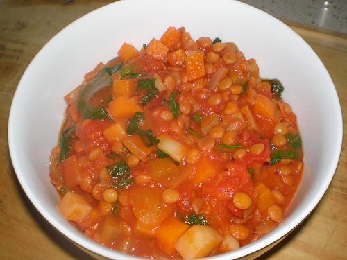 Aunt Bonnie's Lively Lentil Stew