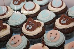 41. Baby Boy Cupcakes (The Cake Couture (is currently not taking any orde) Tags: baby shower chocolate mini cupcake doha qatar                  thecakecouture