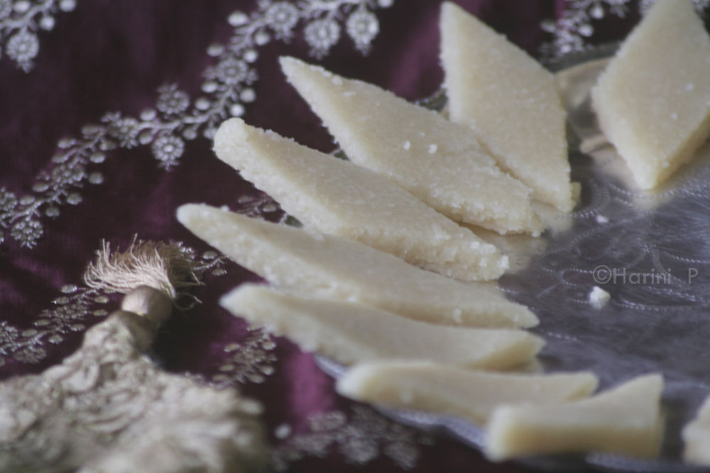 Almond rolled sweets or Badam katli