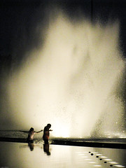 In the Zone (johnwilliamsphd) Tags: girls copyright reflection water fountain port john la losangeles los play williams angeles c splash harborblvd sanpedro fanfare portofla  williams john wetdesigns johncwilliams johnwilliamsphd phd