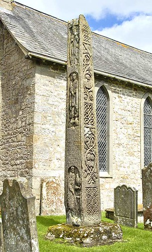 Two views of Bewcastle's marvelous Anglian cross
