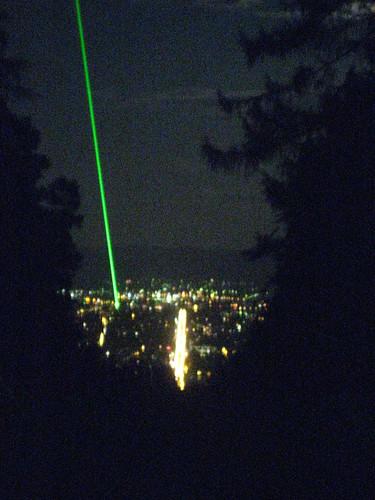 Laserstrahl über Kassel