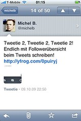 Tweetie 2-Screenshot: Einzelner Tweet