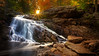 Between Worlds (chris lazzery) Tags: autumn sun waterfall newhampshire fallfoliage explore 5d milford frontpage canonef1740mmf4l purgatoryfalls
