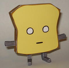 Mr Toast Paper Toy
