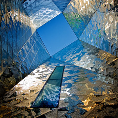 Spain - Barcelona - Forum skylight - sq (Darrell Godliman) Tags: barcelona travel blue espaa abstract reflection building travelling architecture buildings reflections square spain arquitectura nikon shiny europe barca squares metallic forum bcn skylight eu bluesky landmark catalonia lookingup edge squareformat udo architektur catalunya d200 herzog sq herzogdemeuron modernarchitecture architettura europeanunion catalua architectuur demeuron mimari lightwell avenidadiagonal architecturalphotography catalogne contemporaryarchitecture travelphotography herzoganddemeuron bsquare rondalitoral exhibitionhall nikond200 instantfave 5photosaday reinodeespaa kingdomofspain omot forumbuilding  travelphotographer flickrelite architecturalphotographer diagonalavenue universalforumofcultures rambladeprim kwadratsquare spainbarcelonaforumskylightsq 2009dgodliman advancedphotographermagazine advancedphotographymagazine
