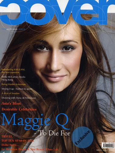 Cover Girl of Magazine-Maggie Q