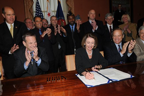 Speaker Nancy Pelosi Signing Veterans Health Care Budget Reform and Transparenct Act