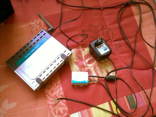 Wireless Modem cum Router kat Jasin