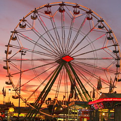 Cartier-Bresson on Impermanence (kevin dooley) Tags: city november blue sunset arizona sky urban orange cloud southwest fall phoenix wheel silhouette canon 50mm fairgrounds us purple desert sundown state 14 cartier fair ferris roller impermanence ferriswheel rollercoaster bigwheel coaster 2009 f28 henri bresson cartierbresson phx rcs arizonastatefair grandwheel 40d flickraward