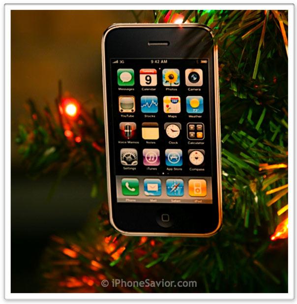 iPhone Christmas Ornament
