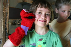 Dragon Puppet (Shelburne Museum) Tags: summer camp art history museum fun sock vermont dragon puppet sockpuppet summercamp shelburne daycamp shelburnemuseum mysticalcreatures owlcottage mysticalcreaturefeature