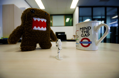 Whilst on patrol in the office sector, Stormy Stormtrooper came across Domokun trying to poison the local tea supply.