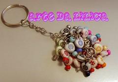 Chaveiro Balangand Coraes (_Lilica_) Tags: hearts artesanato coraes corao lilica chaveiro penduricalho balangand