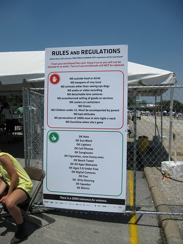 The Rules of Summerfest (keep reading)