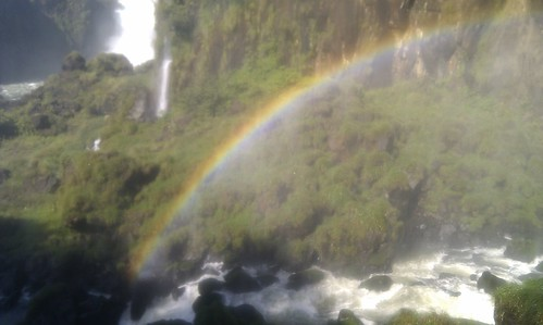 Rainbow at the Iguazú falls.