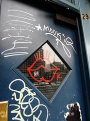 UrbanEvidence (Street Witness) Tags: streetscape doorway graffiti scrawl les nyc essex street