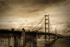 Golden Gate in Sepia