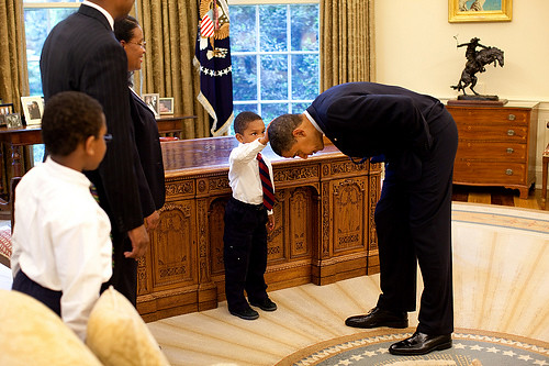 Obama and young boy