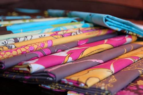 My Quilt-along fabrics
