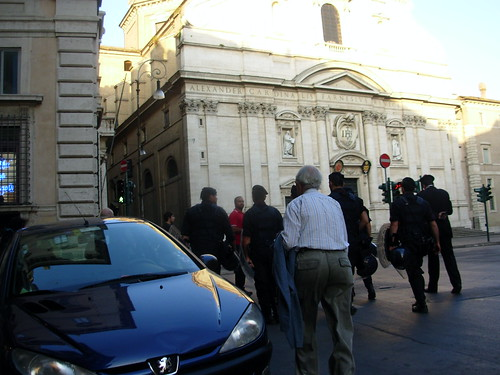 Carabinieri in Riot Gear for Anti- G8 Protests in Rome