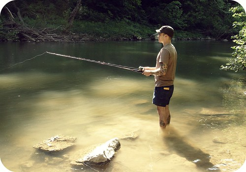 fishing in Blue River