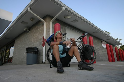A tired me after 145 km on the road...Hampton Springs, Florida/US