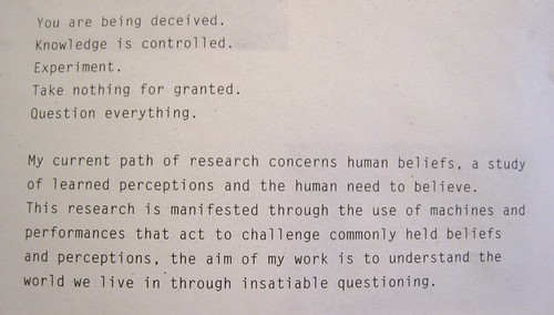 Liam Healy's Manifesto