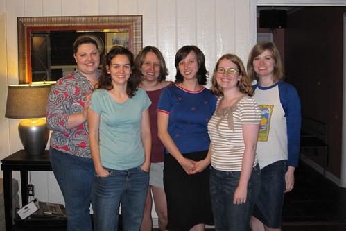Amber, Charlotte, Jennifer F, Caroline, Apryl, and Jennifer B R