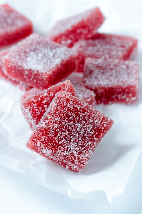 Strawberry Rhubarb Pate De Fruit