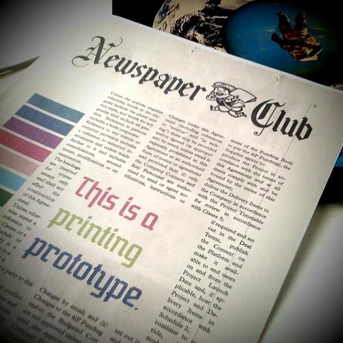 Prueba de imprenta de Newspaper
