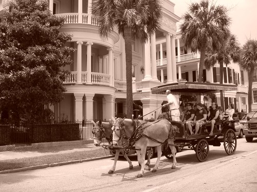 Carriage in historical Charleston...
