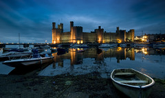 Caernarfon Castle (Paul Sivyer) Tags: castle night paul caernarfon wildwales sivyer llanberis2009