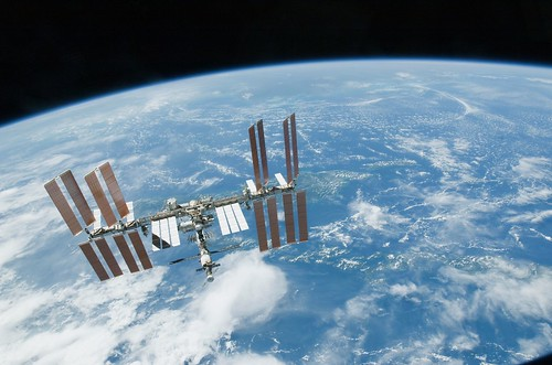 ISS seen from Space Shuttle Endeavour