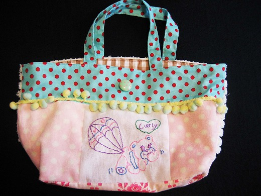 Mini Tote Bag from Curly Collection