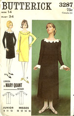 Butterick 3287 (Miss-Dandy) Tags: dress maryquant vintagesewingpattern 1960shomesewing