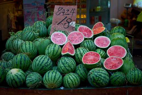 Watermelons for sale in Shanghai