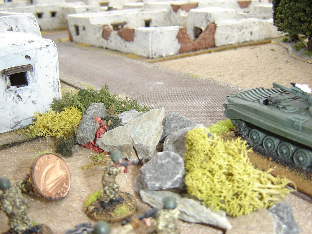 Soviet Regulars take cover
