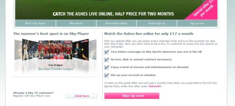 Sky Player Ashes offer