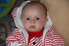 Little Red and White Striped Hoodie