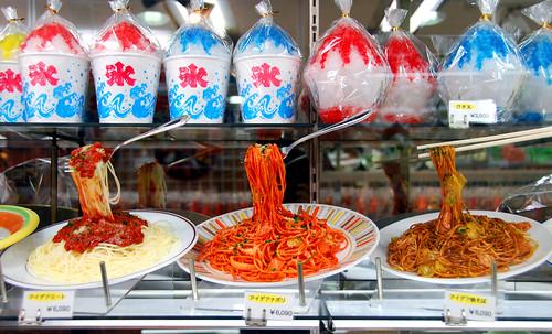 plastic food street, tokyo