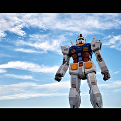 MOBILE SUIT GUNDAM (Full-scale Model) (Noisy Paradise) Tags: city urban japan tokyo sigma explore  gundam  foveon odiba dp2 sigmadp2
