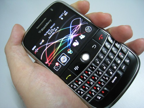 Blackberry Bold in hand