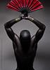 Reign (skinr) Tags: male studio model shadows muscular pharaoh form rein studiolighting maledancer redfan wwwjskinnerphotocom jasonjamesskinner lvcdt jetblackbodypaint