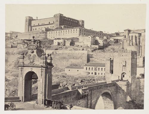 Alcázar y Puente de Alcántara en 1858. Fotografía de Charles Clifford. The Boston Public Library