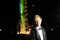 Carry Out My SB-900 and Umbrella (SSNNYY) Tags: lighting light boy portrait cute male guy night hair 50mm nikon bokeh flash chinese handsome melbourne victoria vic nikkor speedlight austrlia skywheel f14g sb900