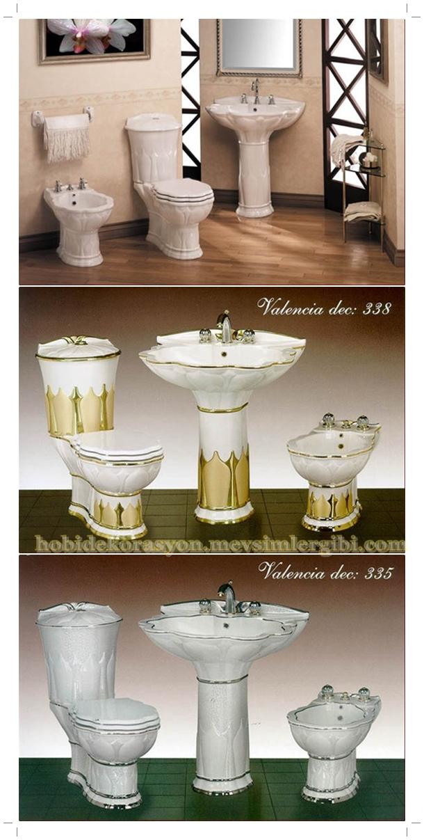 İtalyan seramik tasarımcısından klasik valencia modeli banyo lavabo klozet takımı tasarımı