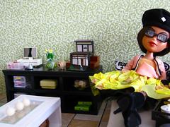 My repainted Bratz doll lounging around