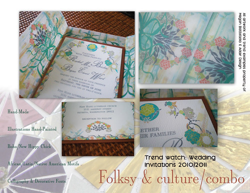 Wedding Trends 2010 2011 Handmade wedding invitation trends wedding