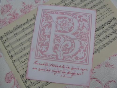 back vintage baby card